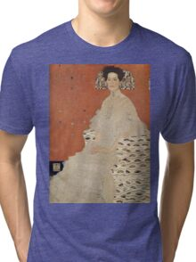 Gustav Klimt - Portrait Of Fritza Riedler, Detal Tri-blend T-Shirt