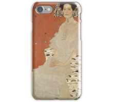 Gustav Klimt - Portrait Of Fritza Riedler, Detal iPhone Case/Skin