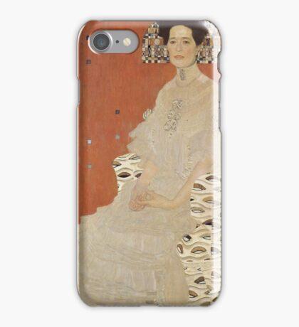 Gustav Klimt - Portrait Of Fritza Riedler, Detal iPhone Case/Skin