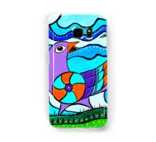 Retro Birds Samsung Galaxy Case/Skin