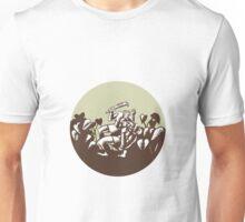 Samoan Losi Club Nifo'oti Weapon Circle Woodcut Unisex T-Shirt