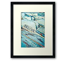 Brightly coloured fishing boats Framed Print