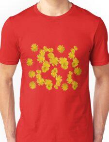 Pissenlits en fleurs sur fond bodacious Unisex T-Shirt