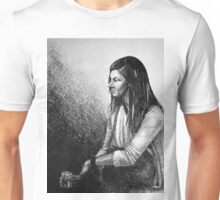 Out for a drink, drawing with girl sitting Unisex T-Shirt