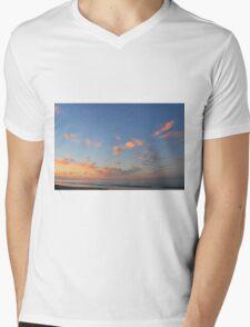 Sunset at the sea in Rimini Mens V-Neck T-Shirt