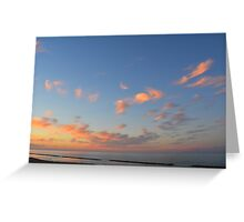 Sunset at the sea in Rimini Greeting Card