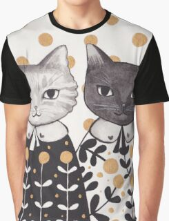 Kittens in Capes Graphic T-Shirt