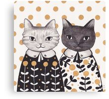 Kittens in Capes Canvas Print