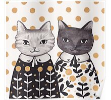 Kittens in Capes Poster