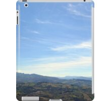 Natural landscape with the hills of San Marino iPad Case/Skin