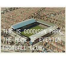 Everton Football Club Photographic Print