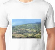 Natural landscape with the hills of Assisi Unisex T-Shirt