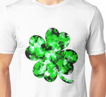 Green Splatter Four-Leaf Clover Unisex T-Shirt