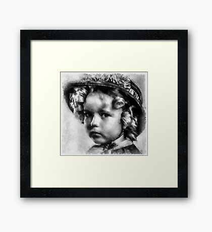 Shirley Temple Vintage Actress Framed Print