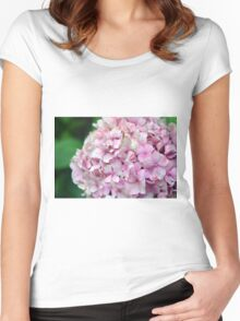 Small group of pink flowers Women's Fitted Scoop T-Shirt