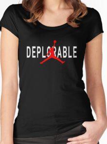 Deplorable X Jordan Black Women's Fitted Scoop T-Shirt
