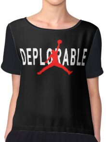 Deplorable X Jordan Black Chiffon Top