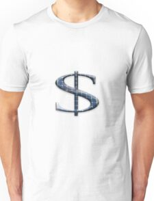 Dollar symbol with photovoltaic solar panels.  Unisex T-Shirt