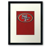 Steel San Francisco 49ers Logo Framed Print