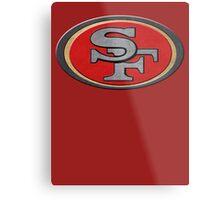 Steel San Francisco 49ers Logo Metal Print