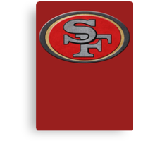 Steel San Francisco 49ers Logo Canvas Print