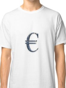 Euro symbol with photovoltaic solar panels.  Classic T-Shirt