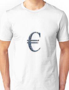 Euro symbol with photovoltaic solar panels.  Unisex T-Shirt