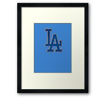 steel Los angeles logo Framed Print