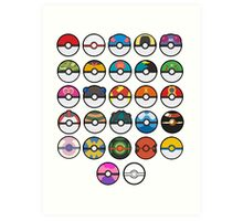 More pokeballs. Art Print