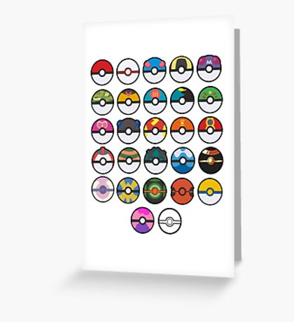 More pokeballs. Greeting Card