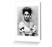 Sophia Loren Hollywood Actress Greeting Card