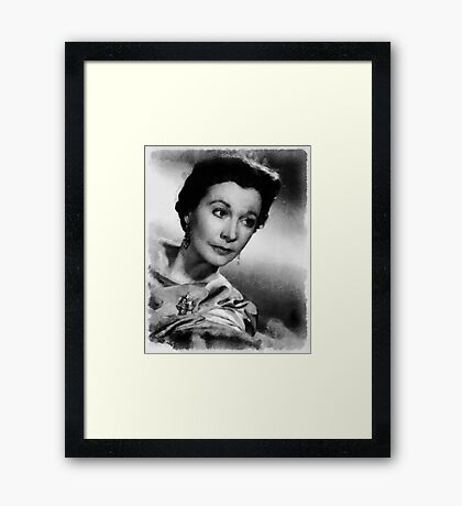 Vivien Leigh Hollywood Actress Framed Print