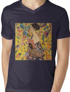 Gustav Klimt - Lady With Fan 1918 Mens V-Neck T-Shirt