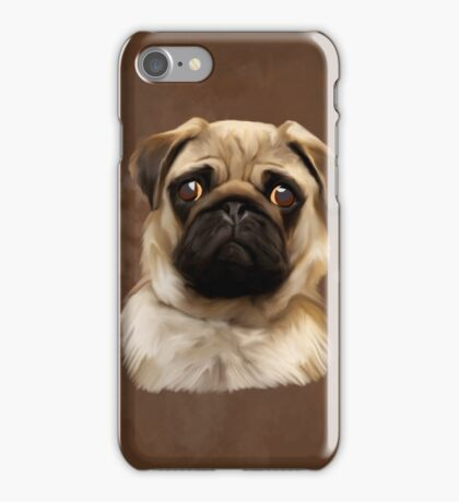 Pug Dog Water Color Art Painting iPhone Case/Skin