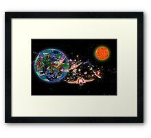 Galactic Cruisers and Escorts Leaving Planet Shypsoaria Framed Print