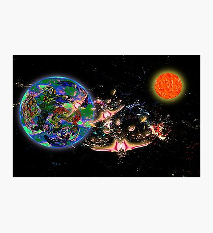 Galactic Cruisers and Escorts Leaving Planet Shypsoaria Photographic Print
