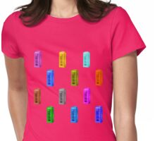 phone booth on rose quartz Womens Fitted T-Shirt