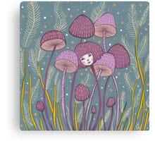 Uncommon Variety - Purple Mushroom Canvas Print