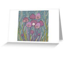 Uncommon Variety - Purple Mushroom Greeting Card
