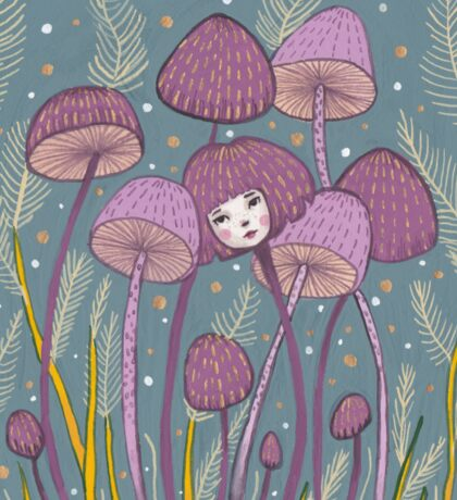 Uncommon Variety - Purple Mushroom Sticker