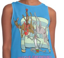 RESCUE GREYHOUNDS ROCK AND ROACH! Contrast Tank