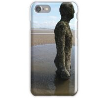 Antony Gormley Statue on Crosby Beach iPhone Case/Skin