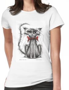 Boris the cat Womens Fitted T-Shirt
