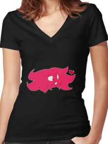Ponk Girl Women's Fitted V-Neck T-Shirt