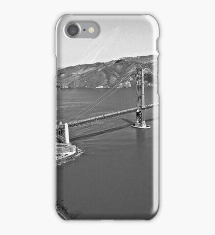 Aerial Black and White California SF  iPhone Case/Skin