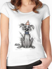Boris the dog Women's Fitted Scoop T-Shirt
