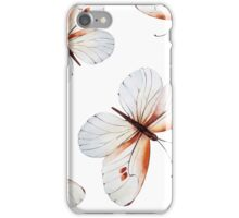Small pretty butterflies in brown tones and white butterfly design, cute bold animal print design in brown and white, classic statement fashion clothing, soft furnishings and home decor  iPhone Case/Skin