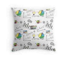 doodle finance seamless pattern  Throw Pillow