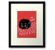 I heart Meow! Framed Print