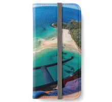 Helicopter Over Port Stephens iPhone Wallet/Case/Skin